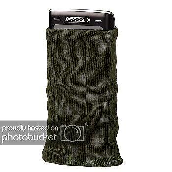 Hama Handysocke Oliv Smartphone-Tasche Feinstrickmaterial iPhone Socke