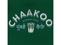 Chakoo - New Indian Restaurant opening soon - In need of full-time and part-time bar and floor staff