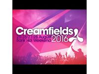 2 Creamfields 4 day silver camping tickets.