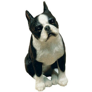 Boston Terrier Sandicast Sculptures,Sandi-Cast,Peeper & Mid-Size