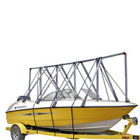 Navigloo winter shelter system for boats 14-19' boats.
