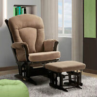 Dutailier Ultramotion Taupe Glider with Ottoman