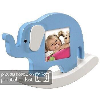 Hama Bilderrahmen Elefant für Baby-/Kinder-Fotos 6 x 6 cm cm Bilder-Rahmen Kind