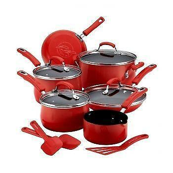 Red Pots And Pans Cookware Ebay