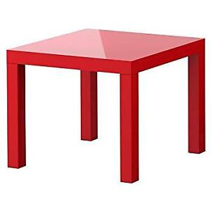 Red LACK Side table from IKEA