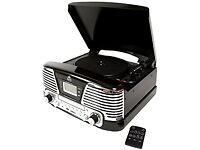 GPO MEMPHIS TURNTABLE 4, MUSIC CENTER, CD, FM RADIO.