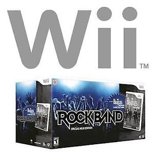 NEW WII ROCK BAND BEATLES EDITION 228636633 SPECIAL VALUE COMPLETE SET ROCKBAND VIDEO GAMES NINTENDO WII CONSOLE