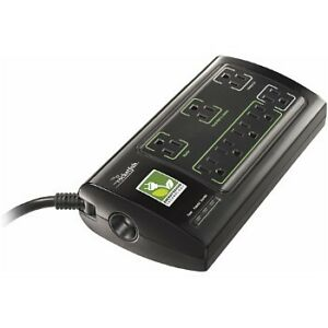 ROCKETFISH 8-OUTLET POWER MANAGER W/SURGE PROTECTION&NOISE FILTE