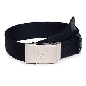 Prada navy fabric belt $445