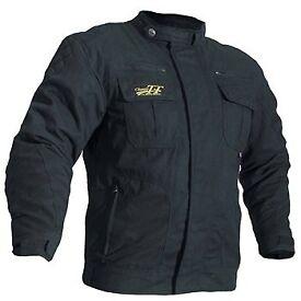Classic tt motorcycle jacket in black