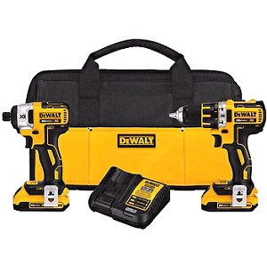 DEWALT DCK281D2 20V Max XR Lithium Ion Brushless Compact Drill/D
