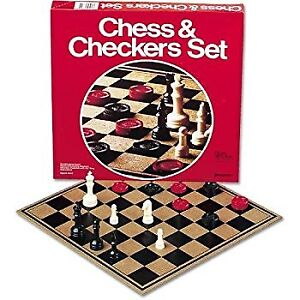 Checkers & Chess Board Game Set