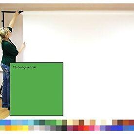Chromagreen creativity photographic studio background paper, green colour. New.