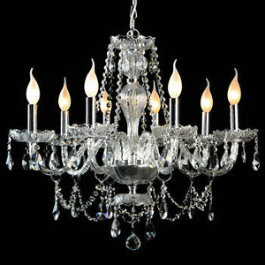 Gen-Lite 104993 Venetian 25.5 In.dia 8 Light Chandelier Crystal Kitchener / Waterloo Kitchener Area image 3
