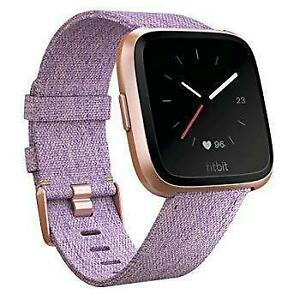 Fitbit Versa Special edition Smart Watch, Lavender Woven, Brand new sealed, storedeal_2982439