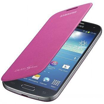 Samsung i9190 i9195 Galaxy S4 Mini - Housse Etui Flip Cover - Original Rose