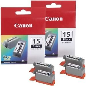 Canon BCI-15 Black Ink Cartridge 2-pack West Island Greater Montréal image 1