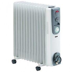 Clark 2.5kw oil filled radiator / heater as new