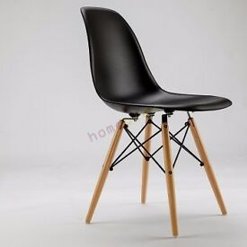 4 x Brand New Black Eames DSW Dining Chairs In Box - Free Delivery