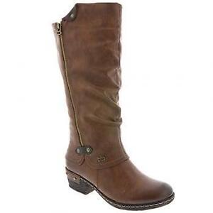 Rieker 93655-26 Womens Tan Long Winter Boots