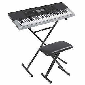 Casio Keyboard with bench