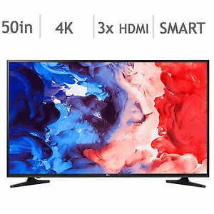"""LG 50"""" 4K SMART TV, free tv mount"""