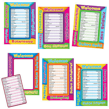Multicultural Welcome Frames Accents Edupress EP-3159