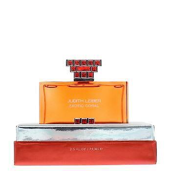 Judith Leiber Exotic Coral Eau de Parfum 75ml Spray Women's - NEW. EDP - For Her