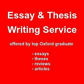 I will write your essay or thesis: writing service by sharp Oxford graduate with years of experience