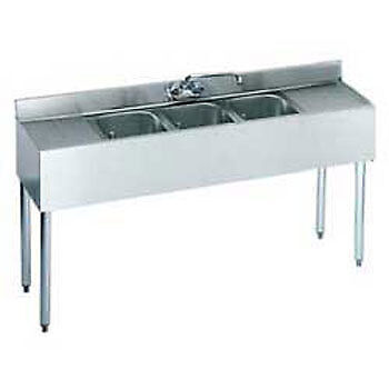 Krowne Metal 21-53c Ss Underbar Sink 3 Centered Compartments 60wx21dx35h