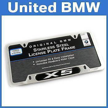 Bmw X5 License Plate Frame Ebay