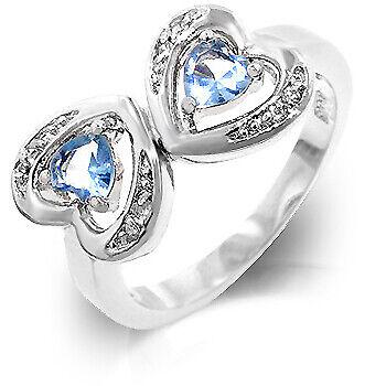 Kate Bissett R07922R-S32-05 Genuine Rhodium Plated Fashion Ring Featuring Mirror