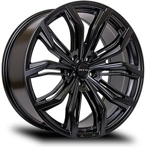 "BNIB RTX Black Widow 18"" Satin Black Alloy Wheels Set of 4 DEAL"