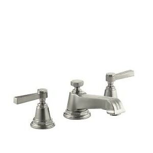 Kohler 13132-4B-BN Pinstripe Widespread Lavatory Faucet With Lev