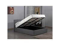 Used for only short period - 3ft Single Ottoman Easy Gas Lift Up Deep Storage Beds (Black)