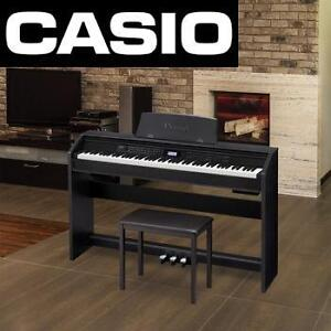 NEW CASIO DIGITAL PIANO BUNDLE - 114561366 - 88 WEIGHTED KEY PRIVIA KEYBOARD PIANO AND CB-7BK PIANO BENCH