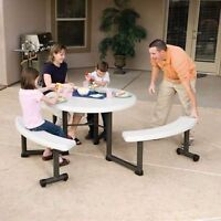 Lifetime® Table de pique-nique ronde 44 po