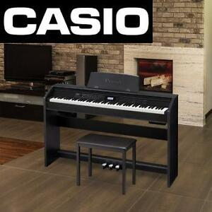 NEW CASIO DIGITAL PIANO BUNDLE - 114561366 - 88 WEIGHTED KEY PRIVIA KEYBOARD PIANO AND CB-7BK PIANO BENCH