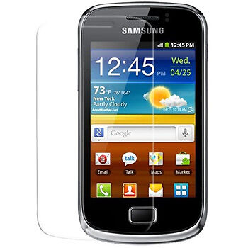 Samsung S6500 Galaxy Mini 2 - 1x film de protection semi rigide + chiffon doux