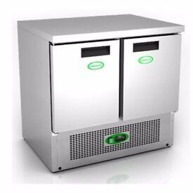 Under counter refrigerator 2 door - excellent condition. Cafe/dessert shop use