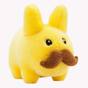 KOZIK Plush Stache Labbit Yellow gelb 7 inch Toy plüsch