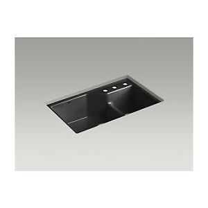 Kohler 6411-3-7 Indio 33 X 21-1/8 X 9-3/4 Under-Mount Smart Divi