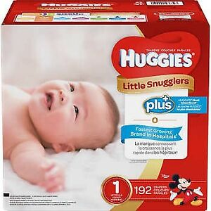 Huggies Little Snugglers size 1, 192 count
