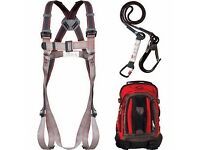 JSP SAFETY HARNESS PIONEER FALL ARREST KIT C/W OWN RUCKSACK - BRAND NEW COST £115.00