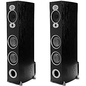Polk Audio RTIA7 300W Tower Speaker - Pair (Black)