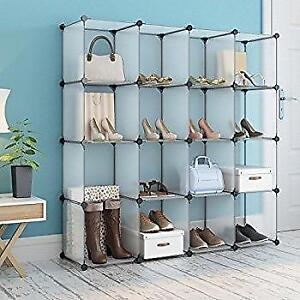 12 Cube Cabinet Interlocking Storage / Shelves / Rack Clothes / Shoes/Toys Organiser 43.3 x 14.6 x 43.3inchesL x W x H