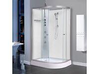 AquaLusso - Alto 04L - 1200mm x 800mm Left Handed Offset Shower Cabin - Polar White