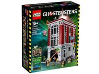 Lego ghostbusters firehouse + ecto1
