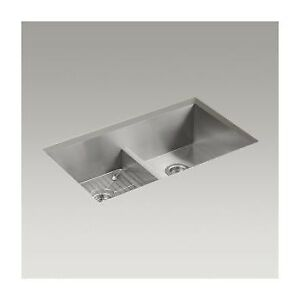 Kohler K3838 Vault 33 x 22 Smart Divide Double Equal Kitchen Sin