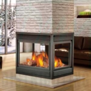 4 sided fireplace four sided places gas burning fireplace for Four sided fireplace